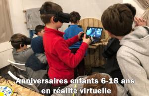 Anniversaires enfants en Réalité Virtuelle