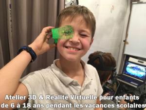 Ateliers 3D et Réalité Virtuelle, pour les enfants pendant les vacances